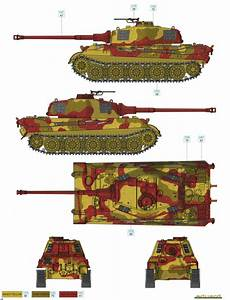 Tamiya Acrylic Color Chart King Tiger Ausf B Three Color Camouflage Color Profile And