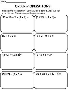 order  operations math  science   order
