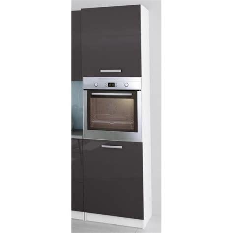 meuble colonne pour cuisine colonne de cuisine pour four encastrable de 60 cm gris