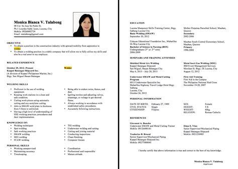 Welder Sample Resume Costumepartyrun
