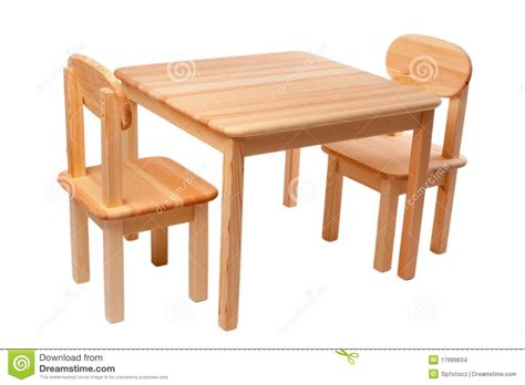 wooden table with two chairs stock images image 17999634