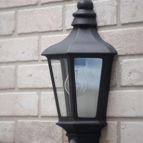 perry outdoor pir half lantern grey from litecraft
