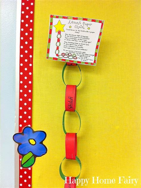 advent paper chain countdown  printable happy home