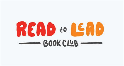 Read To Lead Book Club  Logo On Aiga Member Gallery