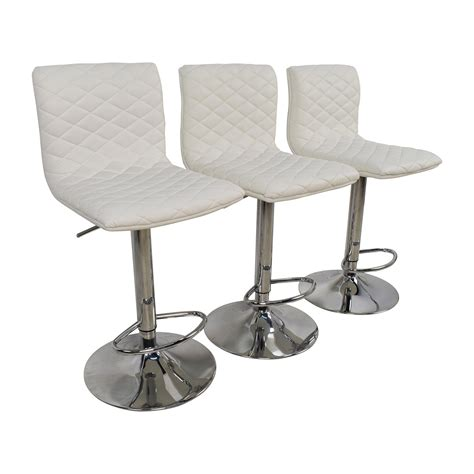 74 white quilted bar stool chairs chairs