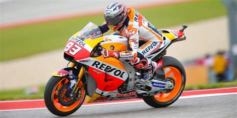 painting texas red marquez starts   stunning pole
