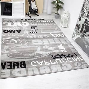Teppich Schwarz Weiß Muster : trendiger kaffee teppich verschiedene schriftarten und muster meliert in grau wei und ~ Indierocktalk.com Haus und Dekorationen