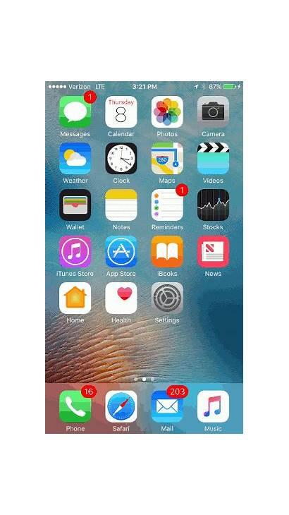 Screen Apple Center Control Iphone Verizon Swipe