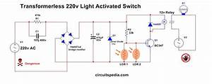 Automatic Night Light Circuit Diagram With Ldr Without