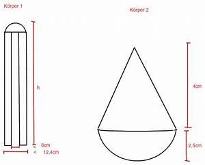 Volumen Einer Kugel Berechnen : volumen sachaufgabe zusammengesetzte abgerundete k rper volumen berechnen mathelounge ~ Themetempest.com Abrechnung