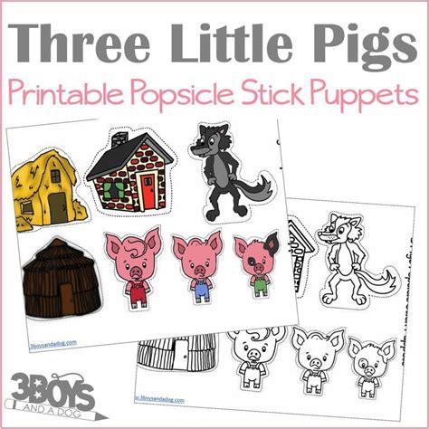 pigs popsicle stick puppets  boys   dog shop