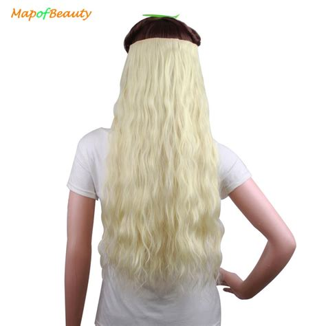 Mapofbeauty 24 Long Kinky Curly 5 Clip In Synthetic Hair