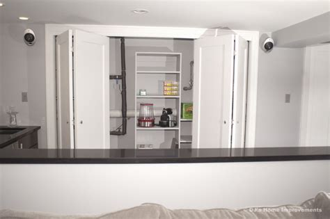 storage and closets in basement by dj s home improvements