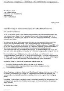 Bewerbung Kauffrau Mann F R Verkehrsservice Ausbildung