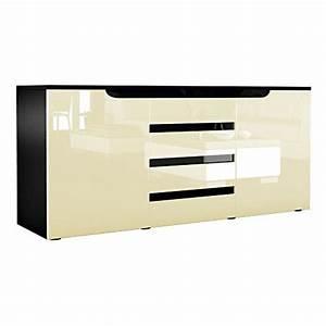 Sideboard Schwarz Hochglanz Günstig : sideboard kommode sylt in schwarz creme hochglanz mit absetzungen in schwarz esszimmerst ~ Indierocktalk.com Haus und Dekorationen