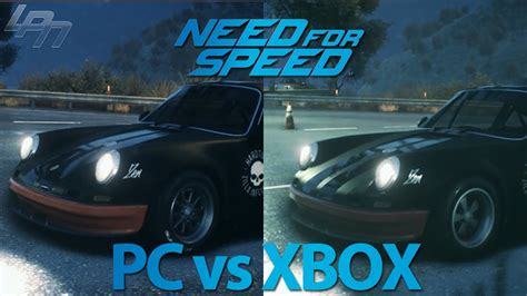 need for speed xbox one need for speed 2015 pc vs xbox one graphics