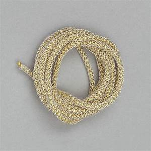 1m Silver Coloured Knitted Wire With Gold Beaded Chain