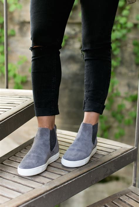 These Grey Suede Pull Shoes Are The Perfect Cool Meets