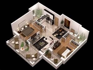 detailed floor plan 3d 3D Model max obj - CGTrader com