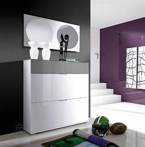 Schuhschrank Grau Weiß : top hochglanz schuhschrank schuhkipper weiss grau inkl 2 design spiegel neu ebay ~ Indierocktalk.com Haus und Dekorationen