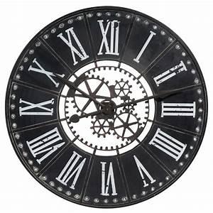 Horloge En Metal : horloge en m tal d 80 cm lelasseur maisons du monde ~ Teatrodelosmanantiales.com Idées de Décoration