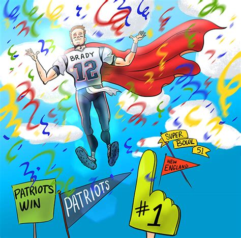 Patriots Win Super Bowl 51 Brady Cartoon Cartoon