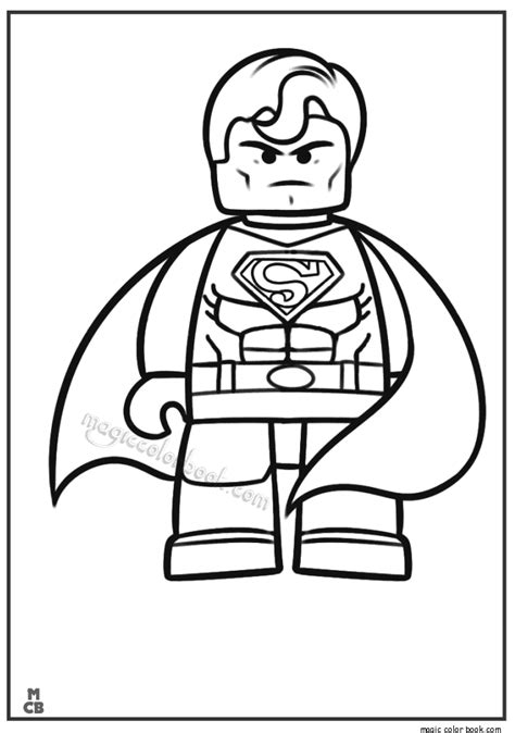 Free Lego Coloring Pages Lego Superman Coloring Pages Coloring Home
