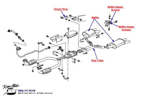 1986 Corvette Smog Diagram by 1987 Corvette Exhaust System Parts Parts Accessories