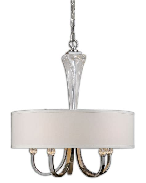uttermost 21256 grancona 5 light drum shade chandelier