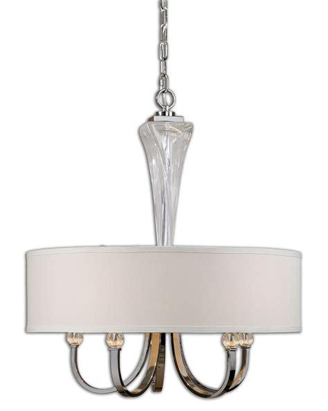 chandelier with drum shade uttermost 21256 grancona 5 light drum shade chandelier