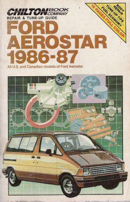 auto repair manual free download 1987 ford aerostar head up display 1986 1987 ford aerostar chilton s repair tune up guide