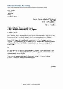 Modele De Resiliation Assurance : modele lettre resiliation mobile sfr document online ~ Gottalentnigeria.com Avis de Voitures