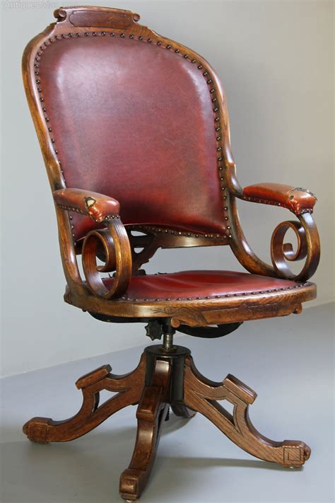 antique oak chair antique oak swivel desk chair antiques atlas 1292