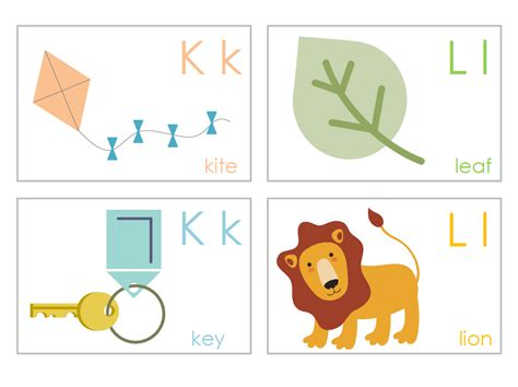 christian unschooling preschool printables 877 | K and L flashcards