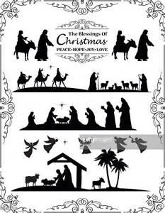 Nativity Silhouette Clip Art