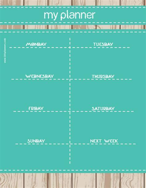 weekly calendar maker create  custom calendars