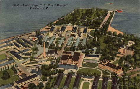 Aerial View Us Naval Hospital Portsmouth, Va