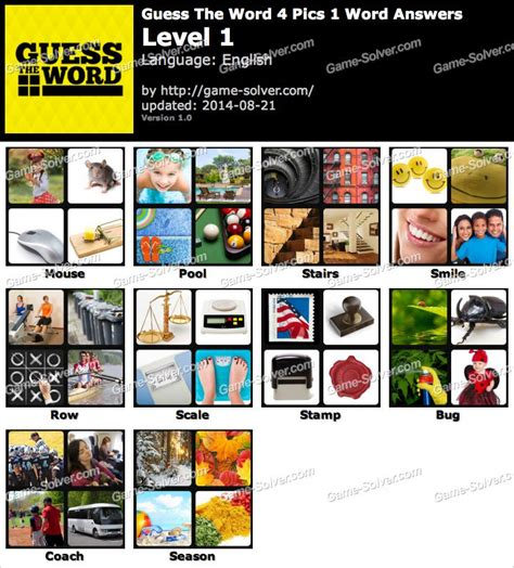 the current answers to 7 letter words trivia in 4 guess the word 4 pics 1 word answers solver 22971
