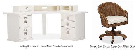 pottery barn bedford corner desk hutch home office desktop organization