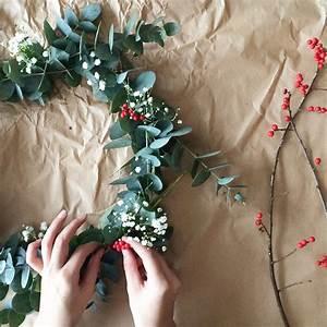 Faire Une Couronne De Noel : diy une couronne de no l pas kitsch elle d coration ~ Preciouscoupons.com Idées de Décoration