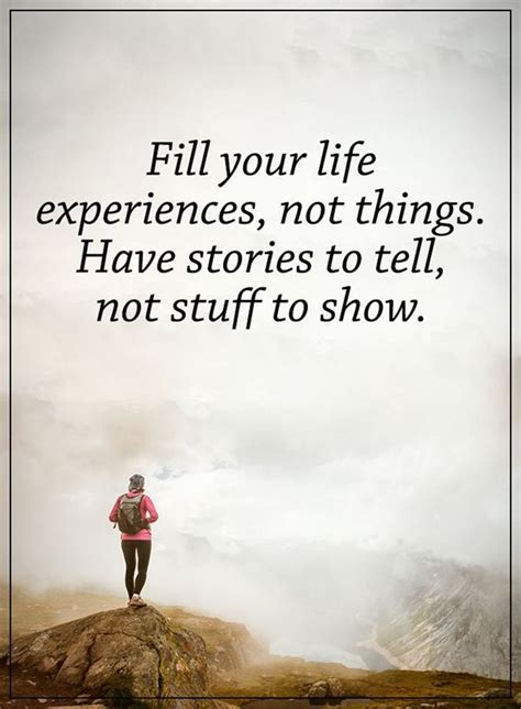 fill  life experiences    stories