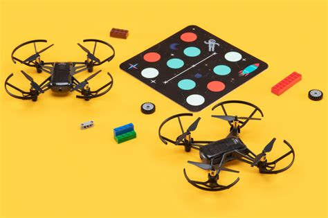 ryze tello  drone flies   teach kids coding