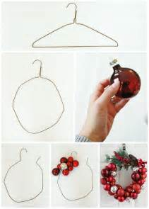 how to make a ornament wreath with a wire hanger delightfully noted
