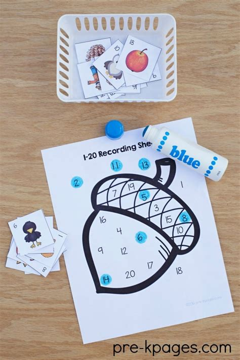 fall theme preschool activities 449 | Printable Fall Number Game