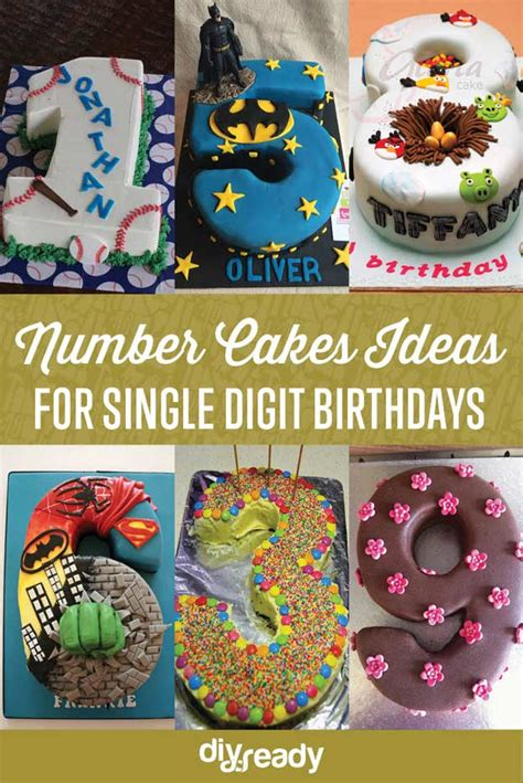 number cakes dessert ideas  single digit birthdays