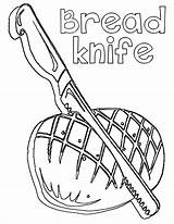 Knife Coloring Pages Comments sketch template