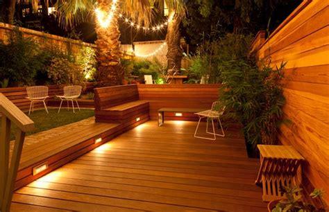 eclairage de terrasse exterieur eclairage indirect exterieur terrasse bois