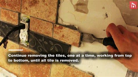 Remove  Kitchen Tile Backsplash Youtube