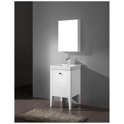 "Madeli Andora 20"" Bathroom Vanity  Glossy White Free"