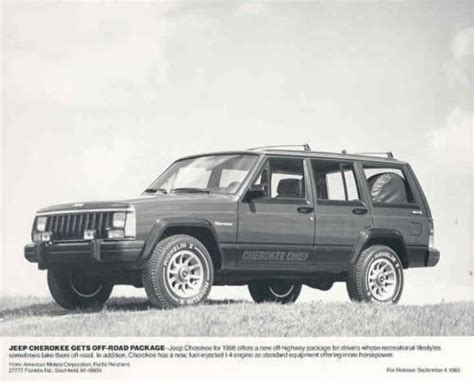 jeep cherokee chief xj details about 1986 jeep cherokee chief original factory